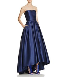 Avery G Strapless Gown Navy
