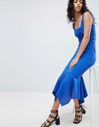 Elliatt Fish Tail Midi Dress Blue