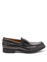 Burberry Emile Studded Leather Loafers Black