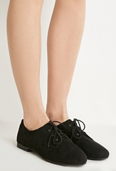 Forever 21 Faux Suede Oxfords Black
