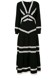 Martha Medeiros Nervuras Midi Dress Black