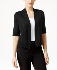 Jm Collection Cropped Open Front Cardigan Only At Macy's Deep Black