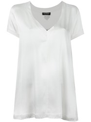 Twin Set V Neck T Shirt White