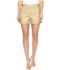 Michael Michael Kors High Waist Stitch Shorts Khaki Women's Shorts