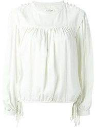 Etoile Isabel Marant A Toile 'Nathael' Blouse Nude And Neutrals