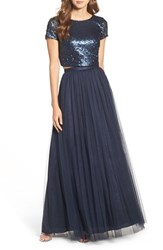 Adrianna Papell Women's Embellished Two Piece Gown