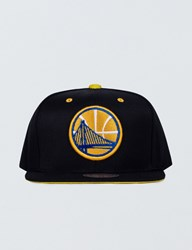 Mitchell And Ness Golden State Warriors Solid Velour Logo Snapback