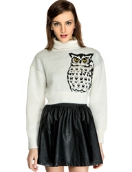 Pixie Market Owl Turtle Neck Sweater