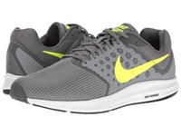 Nike Downshifter 7 Cool Grey Volt Dark Grey White Men's Running Shoes Gray