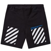 Off White Blue Collar Short Black