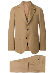 Gabriele Pasini Three Piece Dinner Suit Nude And Neutrals