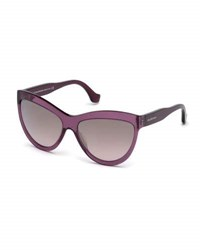 Balenciaga Gradient Flash Cat Eye Sunglasses Dark Purple Wine