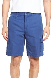Peter Millar Men's Big And Tall Coastal Linen Blend Cargo Shorts Bermuda Blue