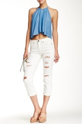 Genetic Denim Birkin High Rise Cropped Straight Leg Jean White