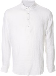 Venroy Pop Over Henley Shirt White