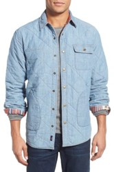 Faherty Quilted Reversible Jacket Blue