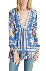 Free People Women's Violet Hill Tunic Blue