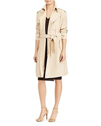Ralph Lauren Twill Trench Coat Pale Wheat