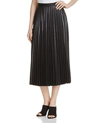 Gracia Faux Leather Pleated Skirt Compare At 130 Black
