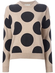 Each X Other Polka Dot Sweater Nude And Neutrals