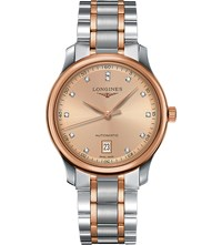 Longines L2.628.5.99.7 Master Collection Rose Gold And Diamond Watch