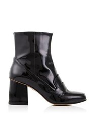 Whistles Ambrose Square Toe Patent Boot Black