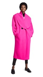 Marc Jacobs Shawl Collar Wool Coat Hot Pink