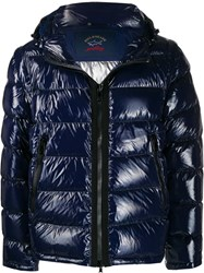 Paul And Shark Quilted Puffer Jacket Blue