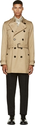 Burberry Beige Heritage Mid Length Britton Trench Coat