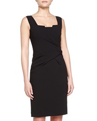 Philosophy Di Alberta Ferretti Knotted Square Neck Sleeveless Dress Black