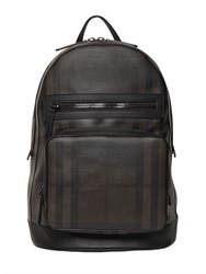 Burberry Check Printed Faux Leather Backpack