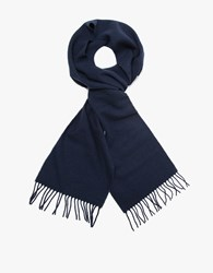 Norse Projects X Johnstons Lambswool Scarf Navy