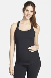 Women's Ingrid And Isabel Racerback Maternity Tank Top Jet Black