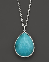 Ippolita Sterling Silver Rock Candy Large Teardrop Pendant In Turquoise 16
