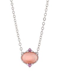 Judith Ripka Allure Oval Pink Mother Of Pearl Doublet Pendant Necklace No Color
