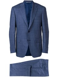 Canali Two Piece Formal Suit Blue