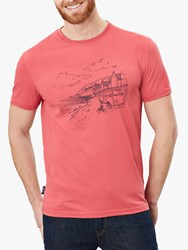 Joules Flynn Camper Graphic Cotton T Shirt Mid Red