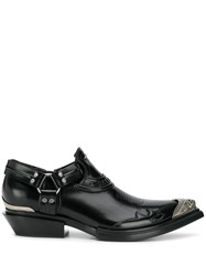 Balenciaga Santiag Jive Smooth Loafers Black