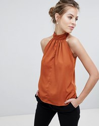 Vesper Halterneck Top Orange