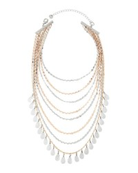 Lydell Nyc Layered Multi Strand Beaded Choker Necklace