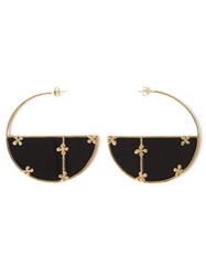 Aurelie Bidermann 'Bianca' Onyx Hoop Earrings Black