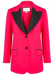 Gucci Fuchsia Wool And Silk Blend Blazer Red