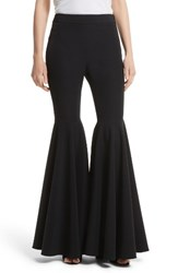 Milly Women's Flare Leg Cady Pants Black
