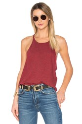 Lanston Side Drop Tunic Tank Red