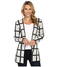 Pendleton Marketa Cardigan Ivory Black Women's Sweater Multi