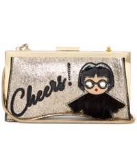 Trina Turk Cheers Clutch Gold