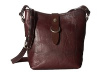 Frye Amy Bucket Burgundy Washed Oiled Vintage Cross Body Handbags