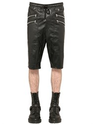 Markus Lupfer Faux Leather Shorts