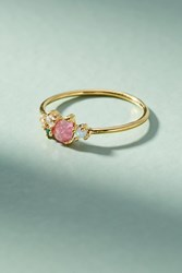 Anthropologie Matilda Cluster Ring Red