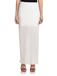 Alice Olivia Sky Semi Sheer Crinkled Maxi Skirt Off White
